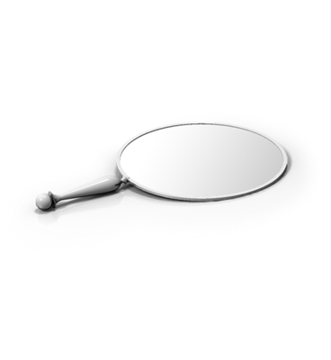 Single Sided Round Hand Mirror
