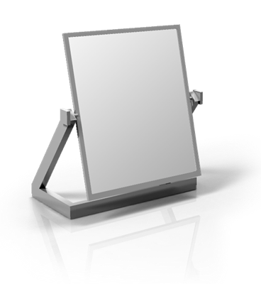 Double Sided Rectangular Mirror