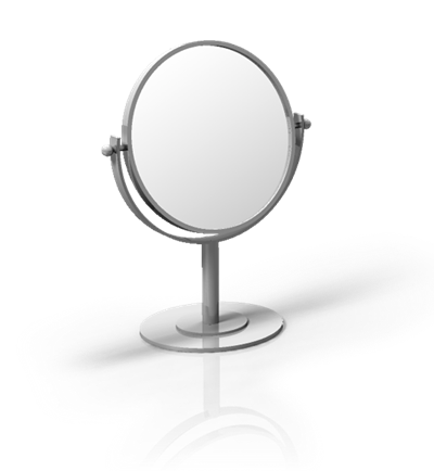 Double Sided Round Mini Mirror